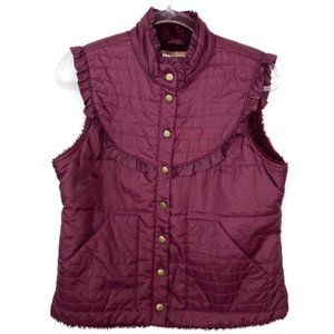Free People | Purple Fleece Lined Ruffle Vest